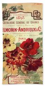 Vintage Flower Seed Cover Paris Rare Beach Towel