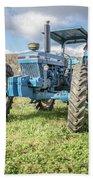 Vintage Ford 7610 Farm Tractor Beach Towel