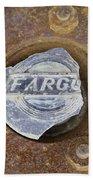 Vintage Fargo Wheel Art Beach Towel