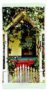 Vintage Garden Arbor Gate Beach Towel