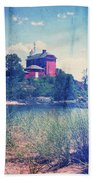 Vintage Great Lakes Lighthouse Beach Sheet