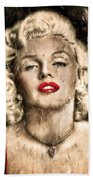 Vintage Grunge Goddess Marilyn Monroe  Beach Towel