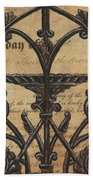 Vintage Iron Scroll Gate 1 Beach Towel