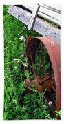 Vintage Irrigation Wagon Beach Towel