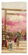 Vintage Japanese Art 25 Beach Towel