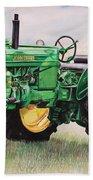 Vintage John Deere Tractor Beach Towel