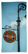 Vintage Lamp And Sign Beach Towel