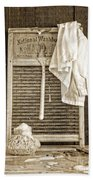 Vintage Laundry Room Beach Towel by Edward Fielding