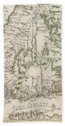 Vintage Map Of Finland - 1740s Beach Towel