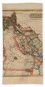 Antique Map Of Georgia Beach Sheet