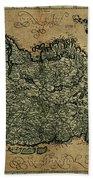 Vintage Map Of Ireland 1771 Beach Towel