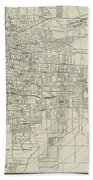 Vintage Map Of Memphis Tennessee - 1911 Beach Towel
