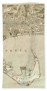 Vintage Map Of Messina Italy - 1900 Beach Towel