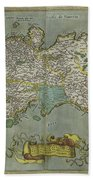 Vintage Map Of The Kingdom Of Naples - 1608 Beach Towel