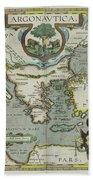 Vintage Map Of The Mediterranean Sea - 1608 Beach Towel