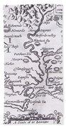 Vintage Map Of Virginia Beach Sheet