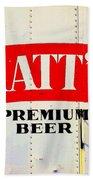 Vintage Matt's Premium Beer Sign Beach Towel