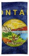 Vintage Montana Flag Beach Sheet