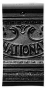 Vintage National Cash Register Beach Towel