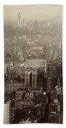 Vintage New York City Panorama Beach Towel