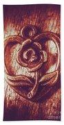 Vintage Ornamental Rose Beach Towel