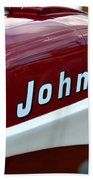 Vintage Johnson Outboard Red  Beach Towel