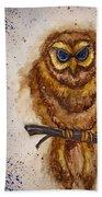 Vintage Owl Beach Towel