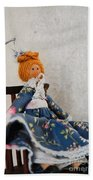 Vintage Peg Doll  Beach Towel
