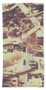Vintage Photo Design Abstract Background Beach Towel