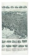 Vintage Pictorial Map Of Lynn Massachusetts - 1916 Beach Towel