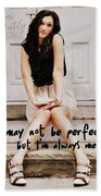 Vintage Poise Quote Beach Sheet