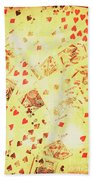 Vintage Poker Background Beach Towel