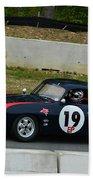 Vintage Porsche 19 Climbing Hill Beach Towel