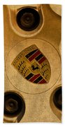 Vintage Porsche Wheel Logo Beach Towel
