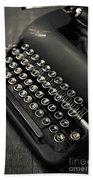 Vintage Portable Typewriter Beach Towel