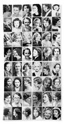 Vintage Portrait Photos Depict Womens Hairstyles Of The 1930s  - Doc Braham - All Rights Reserved. Beach Sheet