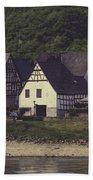 Vintage Postcard Look Of Spay Germany Beach Towel