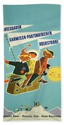 Vintage Poster - Bavarian Alps Beach Towel