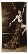 Vintage Poster Posing Dancer In Costume Beach Towel