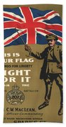 Vintage Poster - This Is Your Flag Beach Towel