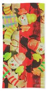 Vintage Pull String Puppets Beach Towel