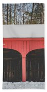 Vintage Red Carriage Barn Lyme Beach Sheet