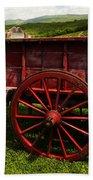 Vintage Red Wagon 2 Beach Towel