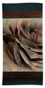 Vintage Rose On Old Wall 2 By Kaye Menner Beach Towel