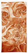 Vintage Rose Petals Abstract  Beach Towel