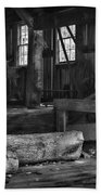 Vintage Sawmill In Black And White Beach Towel