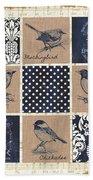 Vintage Songbird Patch 2 Beach Towel