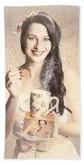Vintage Tea Advertisement Pin-up Beach Towel