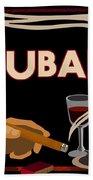 Vintage Tobacco Cuban Cigars Beach Towel