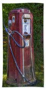 Vintage Tokheim Gas Pump Beach Towel